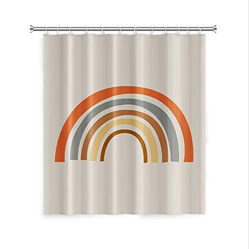 OFila Cute Rainbow Shower Curtain for Bathroom,Simple Pattern Shower Curtain,Bath Curtain Set with Hooks,Decorative Curtains for Kids College Dorm Bathrooms Hotel Quality,72x72 Inch