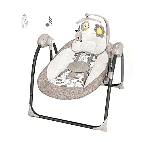 Silla Hamaca Plegable Para Bebé, Cuna Multifuncional Para BebéS, Asiento Basculante Que Puede Sentarse Y Acostarse, Cuna Musical Adecuada Para BebéS De 0 A 6 AñOs