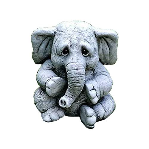 V.W Modern Animal Garden zhuanghsiBomoya Garden Elephant Baby Statue Resin Crafts for Garden Courtyard Decoration, Animal Decoration Elephant Statue Resin Crafts Sculpture (AS Show)