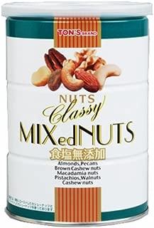 東洋ナッツ 食塩無添加クラッシーミックスナッツ 缶 360g
