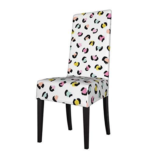 Trendy Panther Print Animal Fur Fundas para sillas de Comedor con Estampado elástico de Estilo escandinavo Moderno, Fundas Protectoras