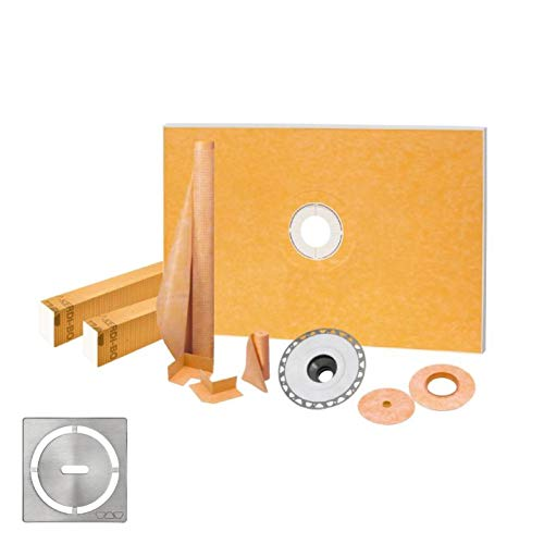 Schluter Kerdi 48″ x 72″ Shower Kit With Stainless Steel Drain