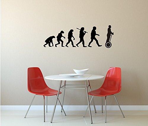 Segway, Wandtattoo, Evolution Segway, verschiedene Farben und Größen (M010 Weiß, 450 mm x 150 mm)