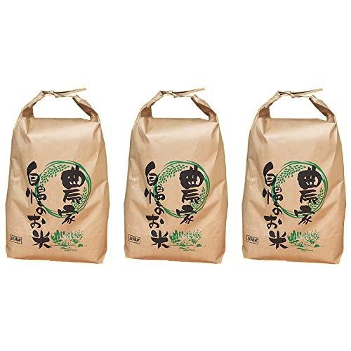 山形県ブレンド米 玄米 業務用 コスパ良好 令和元年産 (玄米 30kg(10kg×3袋), 無洗米に精米)