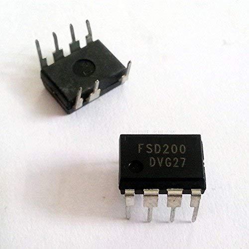 ZTSHBK 10PCS FSD200 Fairchild Interruptor de Potencia de Modo Verde Circuito Integrado Dip