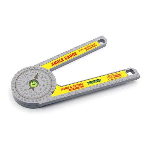 ZOYOSI Medidor de ángulo de escala métrica y británica para carpinteros, fontaneros y oficios de construcción, herramienta de medición de carpintería