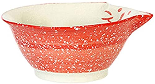 HKAFD Ceramic Cat Bowl Japanese Creative Salad Bowl Personality Soup Bowl Noodle Bowl Household Tableware Children Cute Rice Bowl, Four Specifications,two Colors (Color : Red 3.5inches)