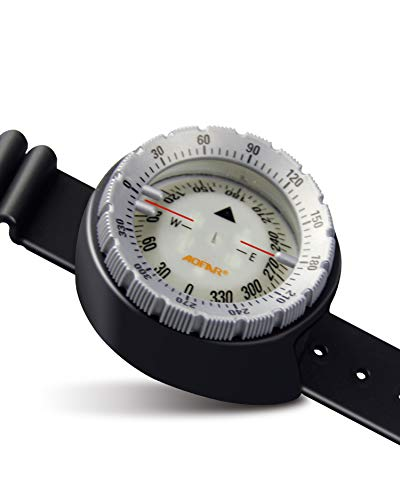 AOFAR AF-Q60 Diving Wrist Compass Waterproof for Sailing, Diving