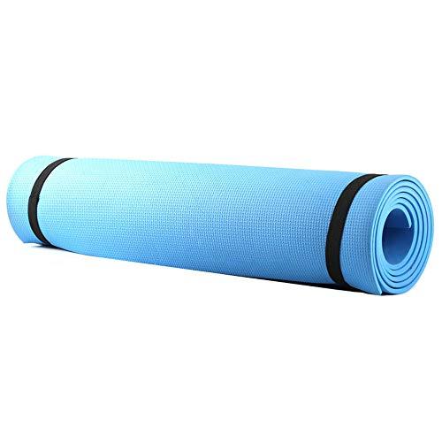 Sunydog Estera de Yoga Antideslizante Alfombrilla de Yoga Esterilla Pilates Esterilla Deporte Yoga Mat para Pilates Yoga Fitness Azul 173x61 cm