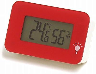 エンペックス 温湿度計 デジタル シュクレ・イルミー 卓上 3.3×5.2cm バックライト 付き ピンク TD-8335