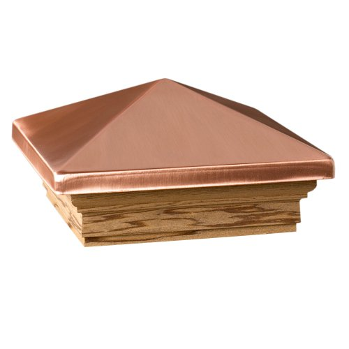Deckorators 72223 Victoria High Point Copper Post Cap with Treated Base (Nominal 4'x4')