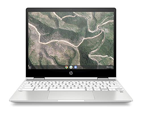 HP Chromebook X360 12-Inch Convertible Laptop, Intel Celeron N4000, 4GB RAM, 32GB eMMC Storage, Chrome OS (12-H0010NR, White)
