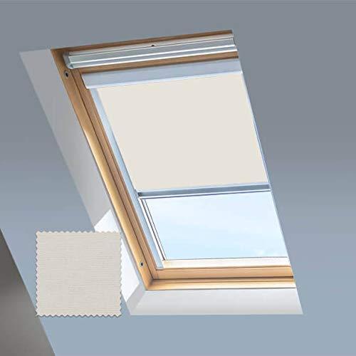 Skylight Blinds - Tende oscuranti per finestre da tetto Fakro, telaio in alluminio argentato, 78/98 (codice 05)