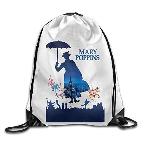 rtuuruyuy Mary Poppins Large Cordón Sport Mochila Sack Bolso Saco