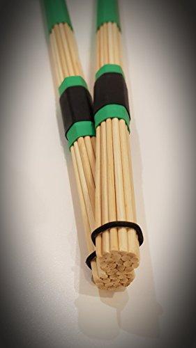 Red Roddy - Canna da pesca in bambù, colore: Verde