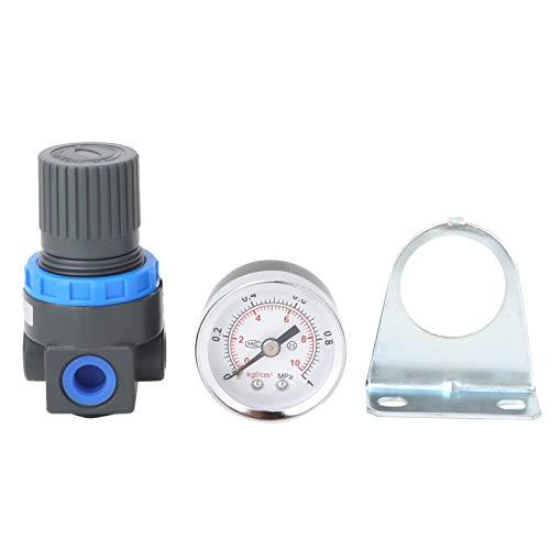 Válvula reguladora de presión, manómetro AR2000 regulador de compresor de control de aire neumático de aleación de aluminio G1/4'