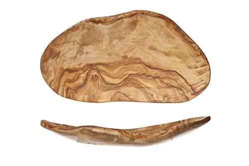 COSY & TRENDY 3778388 - Cuenco de fruta (organic-madera de olivo, 23-28 cm x 10-16 cm)