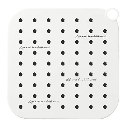 Calayu Tapón de drenaje de silicona, cuadrado, antiolores, para cocina o baño