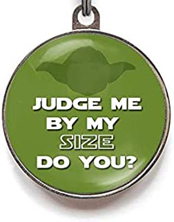 Wag-A-Tude Tags Judge Me by My Size Do You? Pet Tag Custom Dog Tag Cat Tag Custom Pet Tag Funny Pet Tag