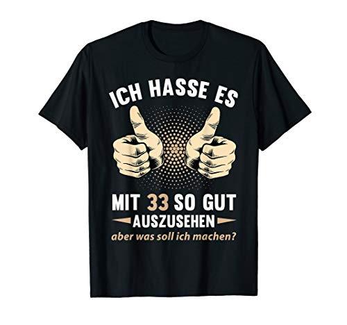 33. Geburtstag Damen Herren 33 Jahre Jahrgang 1987 Geschenk T-Shirt