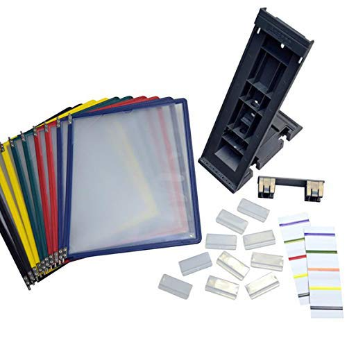 Ultimate Office DocuMate 10-Pocket Desk Reference Organizer Add-On with Assorted Color Easy-Load Pockets and Steel-Reinforced Pins (Add-On Module Only)