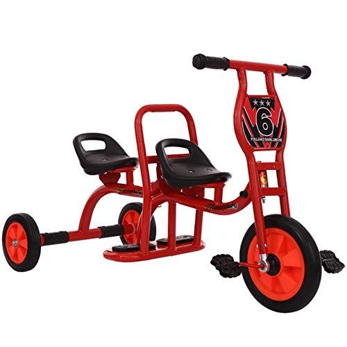 MAGO Neue Gürtel Kindergarten Doppelpedal Kinder Dreirad Fahrräder Outdoor Sport Spielzeug (Color : White)