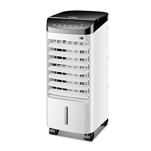 Ventilador de aire acondicionado, pequeño enfriador de aire silencioso, temporizador de 12 horas, función de oscilación, 3 modos y 3 velocidades de viento, para dormitorio, estudio, sala de estar