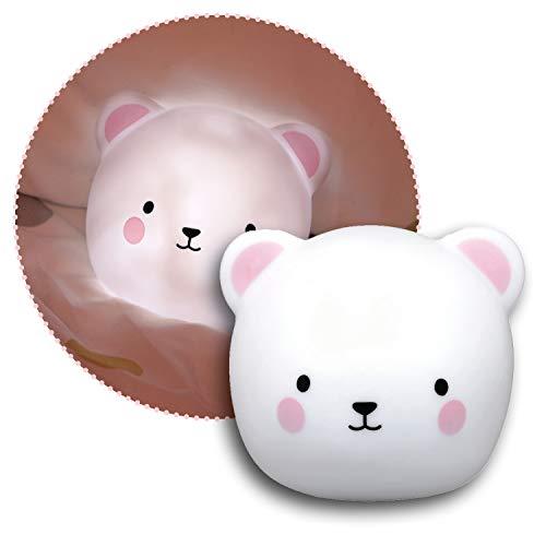 Reer lumilu Touch Light Bear, 2in1 süßes Bären-Nachtlicht und Wandlicht, tolles Taufgeschenk, Geburtstags-Geschenk für Jungen und Mädchen, 52210, weiß