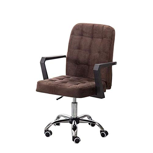 N/Z Daily Equipment Desk Chairs Chair Furniture Fabric Home Office Desk Swivel Stool On Wheels 8cm Adjustable Height Steel Base (Color : Black)