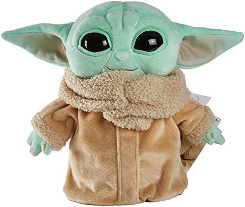 Dumocon Star Wars - Juguete de peluche infantil de 30 cm, diseño de Little Yoda Baby Statue, apto para fanáticos de películas de todas las edades (3 años y más), color azul