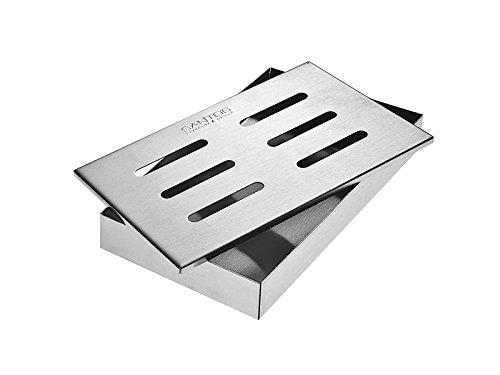 SANTOS Räucherbox Gasgrill, Smoke Box für Elektrogrill Gasgrill, Edelstahl