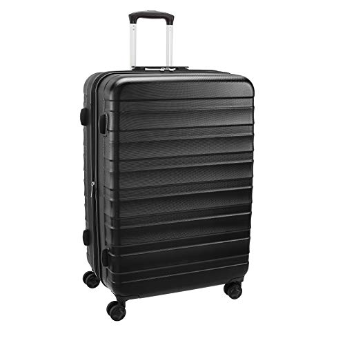 AmazonBasics Premium Robust Hardside Suitcase, 78-cm - Black