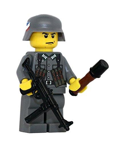 German WW2 MP40 Soldier - Modern Brick Warfare Custom Minifigure