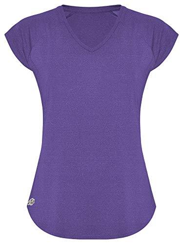 GO HEAVY Damen Fitness Funktions Sport T-Shirt Laufshirt Kurzarm Schnelltrocknend Yoga Sportoberteil   Mauve M