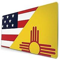 Cliff Effiea マウスパッドAmerica State New Mexico Flag 大型マウスパッド ゲーミング 防水One Size かわいいアニメ 水洗い 光学式マウス 適用適度な表面摩擦 疲労軽減 超滑らかで狙った敵を素早くターゲットします 滑り止め 耐久性が良い