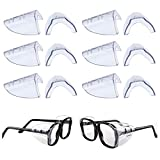 6 Pairs Eye Glasses Side Shields,Slip on Side Shields for Safety Glasses Fits Small to Large Flexible Clear Universal