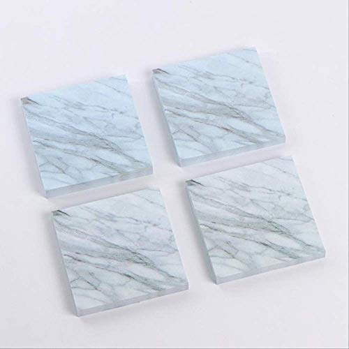 Sticky notes BLTLYX1Pc/Sell Stone Memo Pad Kawaii Stationery Stickers Scrapbooking Quality Sticky Notes Stationery Items Office Supplies 7 * 7cm marble