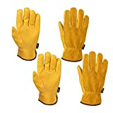 FZTEY 2 Pairs Garden Work Gloves Thorn Proof, Safety Protective Leather...