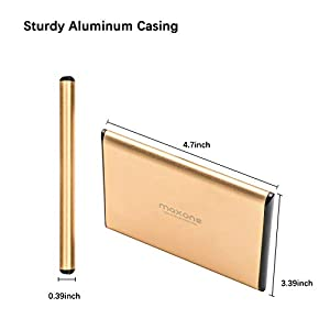 Maxone 250GB Ultra Slim Portable External Hard Drive HDD USB 3.0 for PC, Mac, Laptop, PS4, Xbox one – Gold