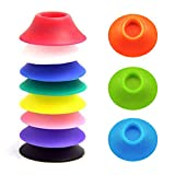 15 Pack Ego Silicone Sucker Stand Base Holder for Vapor Tanks and Battery Vaporizer Pens (Electronic Cigarette Personal Vaporizer Ecig Electronic Cicarette Vape Pen NOT Included) Assorted Colors USA