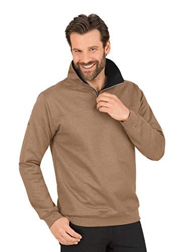 Trigema 674801 Sudadera, Color marrón, L para Hombre