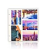 ARPAN - Hojas de Recambio para álbum de Fotos Grande con Anillas, tamaño de Las Fotos 10 x 15 cm, Capacidad para 200...