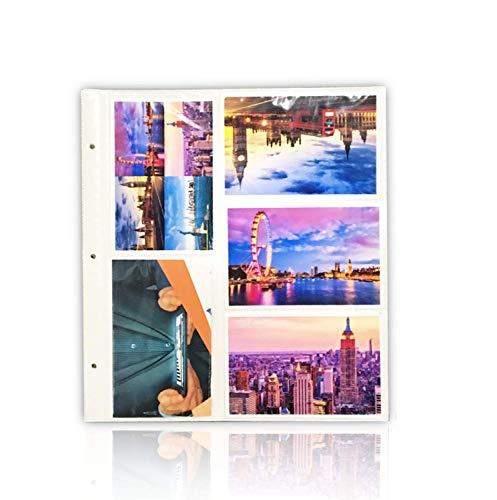 ARPAN - Hojas de Recambio para álbum de Fotos Grande con Anillas, tamaño de Las Fotos 10 x 15 cm, Capacidad para 200 Fotos, 20 Unidades