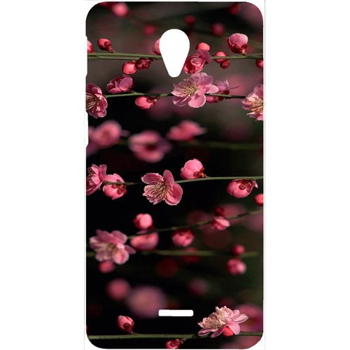 Casotec Pink Flowers Design Hard Back Case Cover for Micromax Canvas Unite 2 A106