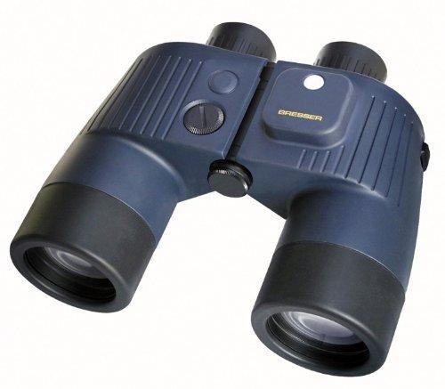 Bresser wasserdichtes Fernglas Binocom 7x50 GAL (mit integriertem beleuchtetem Kompass und Strichplatte zur Entfernungs- und Höhenmessung Stickstofffüllung inklusive Schwimmgurt und Echtledertasche)