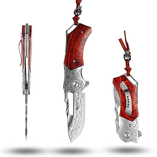 FORESAIL Japanese Handmade Damascus Steel Pocket folding Knives Handmade 3.23in Japanese VG10 Core...