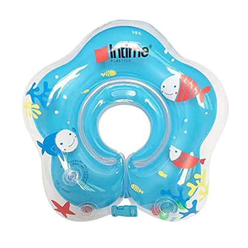 Babypool-Schwimmer, Baby schwimmring Hals, aufblasbare Kinder Schwimmen Schwimmer, Baby-Schwimm-Hals-Ring, Schwimmhilfe Hals Schwimmring, Kinder-Schwimm-Hals-Ring für Baby Kinder Infant (Blue/A)