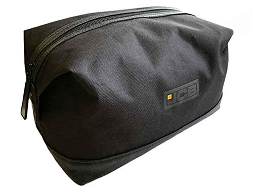 Mens JCB Delux Shave Shaving Toilet Travel Bag Zip Luggage Wash Kit Gift Black