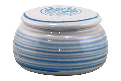 Original französische wassergekühlte keramik butterdose, nie mehr harte butter zum frühstück. ca 250 g butter, kl.raute B-G