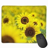 マウスパッド 太陽 ひまわり 花柄 Mousepad ミニ 小さい おしゃれ 耐久性が良 滑り止めゴム底 表面 防水 コンピューターオフィス ゲーミング 25 x 30cm